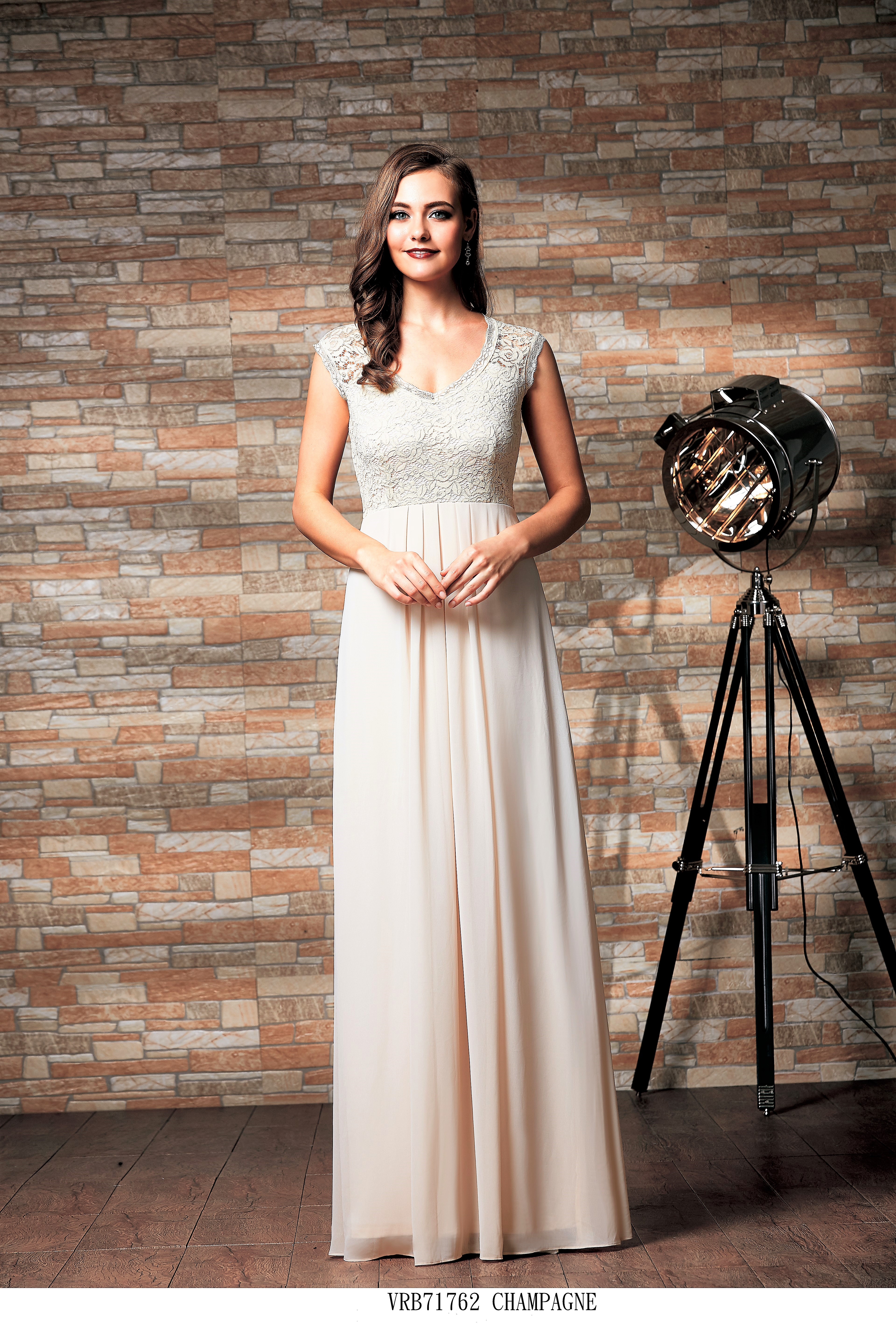 Vienna Lace and chiffon bridesmaid dress