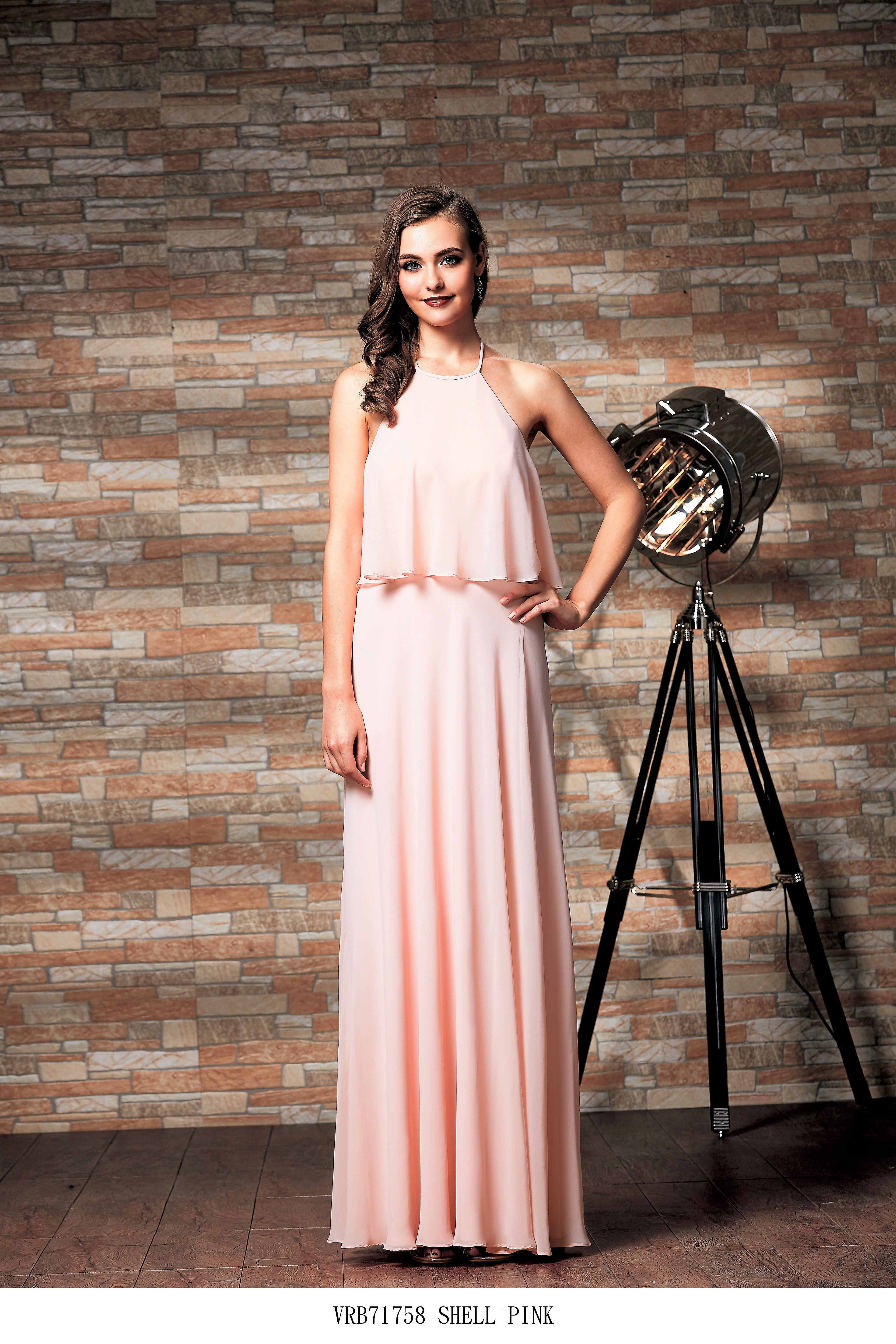 Venus Hi Neck chiffon bridesmaid dress