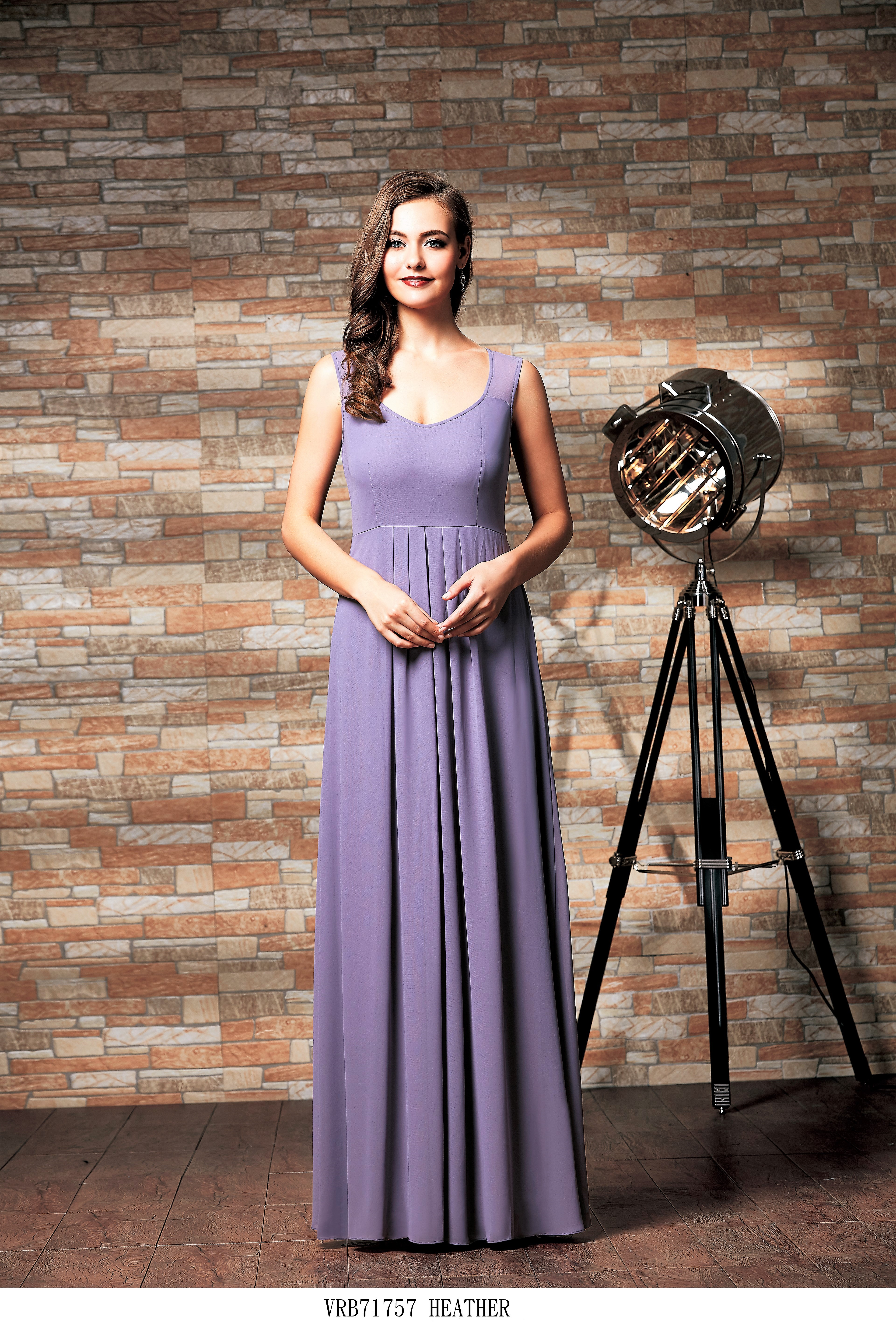 Vera Simple chiffon bridesmaid dress