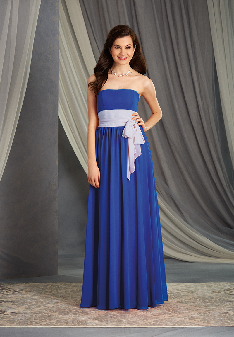 York 2 colour bridesmaid dress