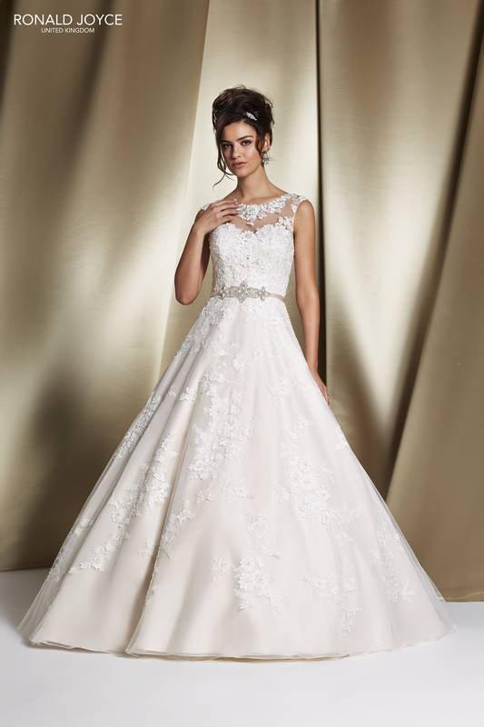 Roberta 68060 High neck lace full-skirt wedding dress