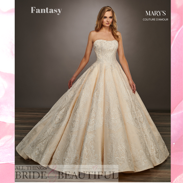 Fantasy, a full Princess style wedding dress