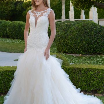 Ivy VE8356N fishtail lace and tulle wedding dress