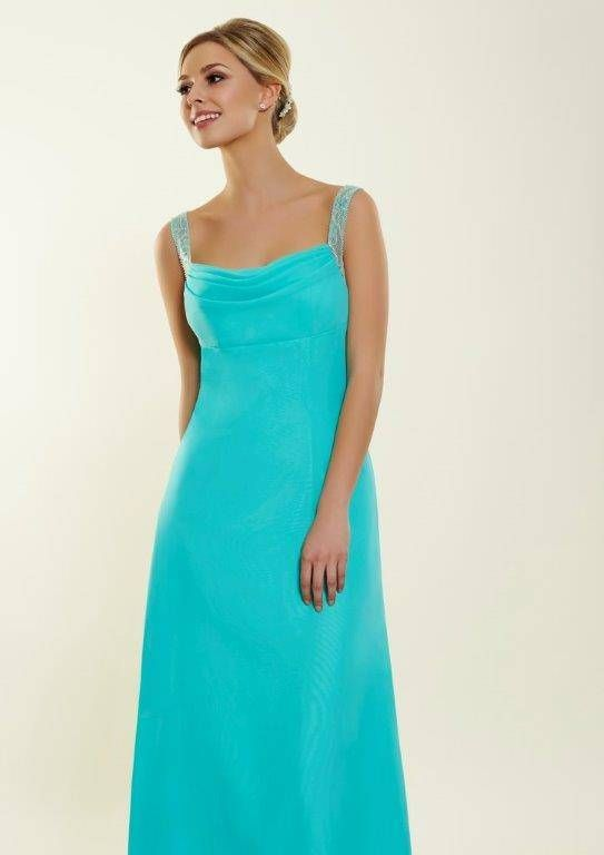 Claire size 14 turquoise blue occasionwear dress