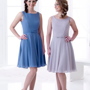 Charlotte short chiffon bridesmaid dress