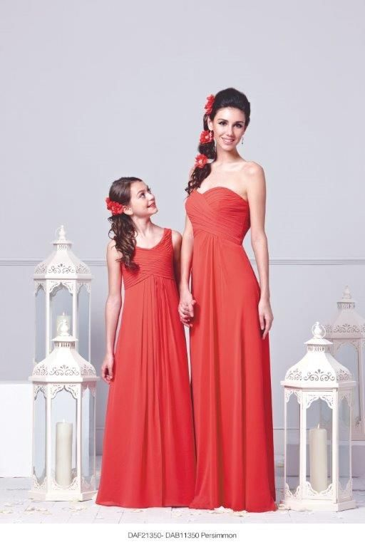 Sky, size 6-8 Burnt Orange chiffon dress