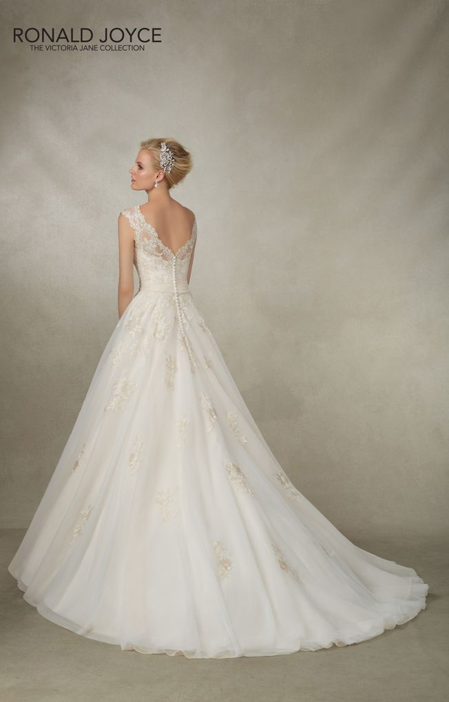 Jade 18003 Ivory size 12 tulle and lace wedding dress