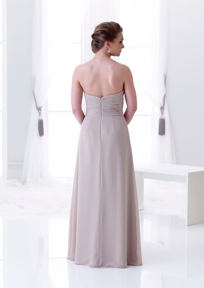 Giselle Strapless chiffon bridesmaid dress